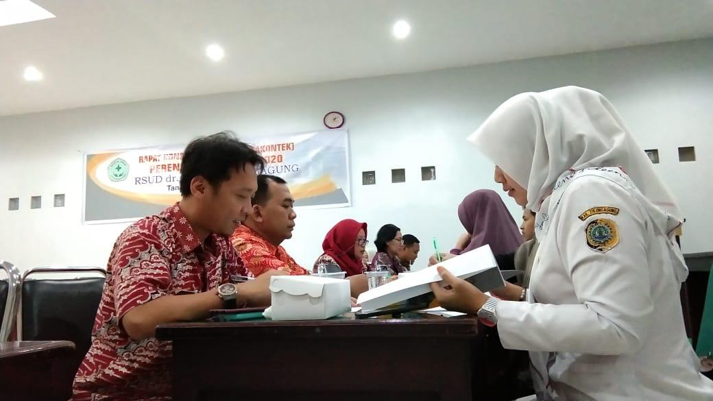 Rapat Konsolidasi Teknik (RAKONTEK) PERENCANAAN TAHUN 2020 RSUD dr. Iskak Tulungagung