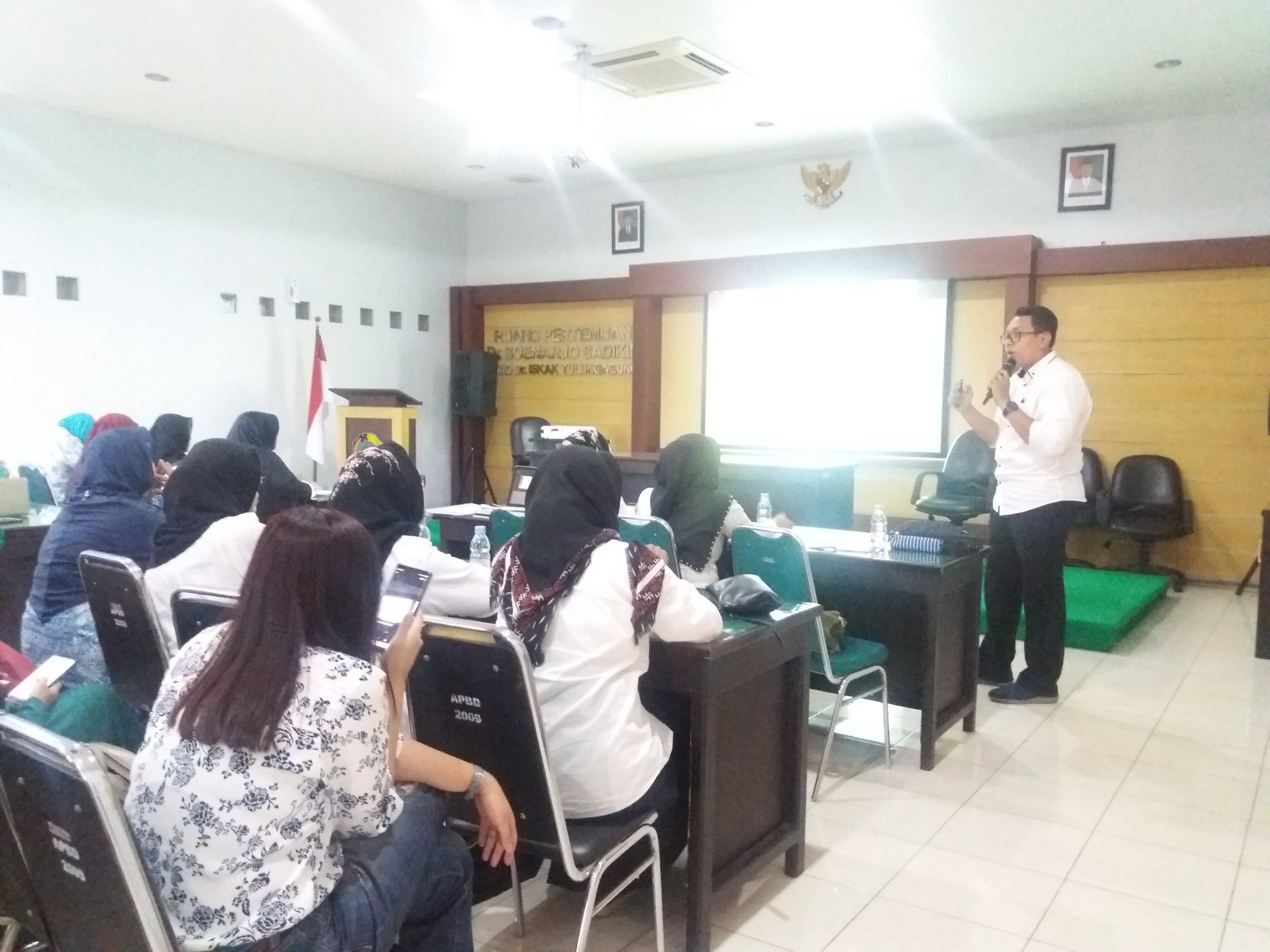 BPJS Kesehatan Kantor Cabang Tulungagung bekerja sama dengan RSUD dr. Iskak mengadakan Pertemuan Mentoring Spesialis - Dalam Rangka Menunjang Rujukan Balik 2019.