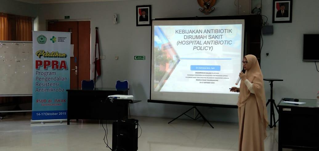 IHT (In House Training) PPRA (Program Pencegahan Resistensi Antimikroba) RSUD dr. Iskak Tulungagung