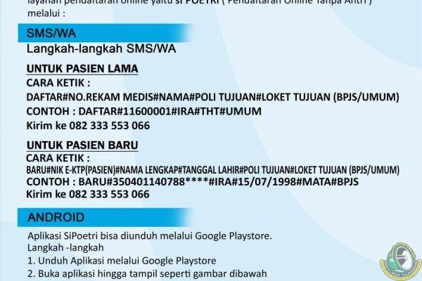 Catat!!! Begini Alur Pendaftaran Online/Offline di RSUD dr Iskak Tulungagung