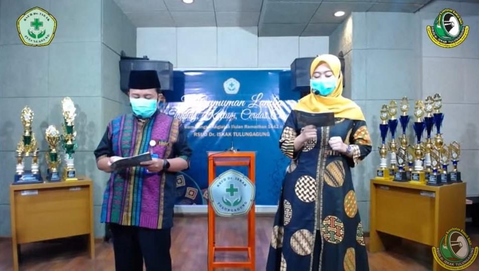 Pengumuman Pemenang Lomba Tanfidz Qur'an, Cerdas Cermat,  dan Kultum RSUD dr. Iskak
