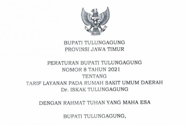 Tarif Layanan RSUD dr. Iskak Tulungagung
