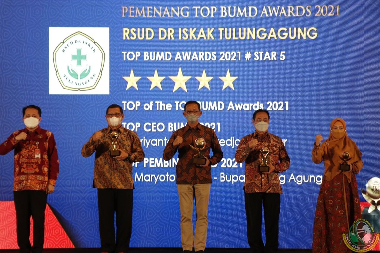 """RSUD dr Iskak sabet """"TOP of The TOP"""" BUMD 2021 Tingkat Nasional"""